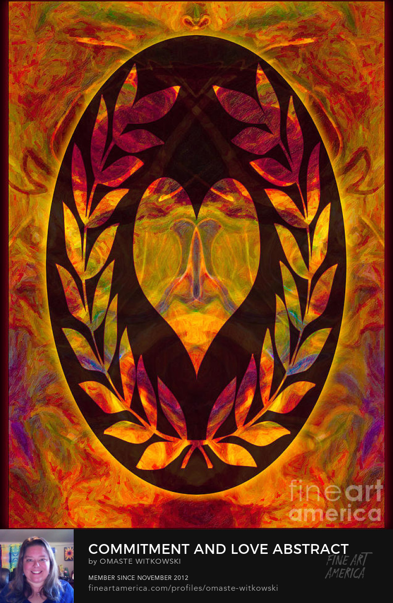 Commitment And Love Abstract Shapes Wheels Of Enlightenment Art Prints