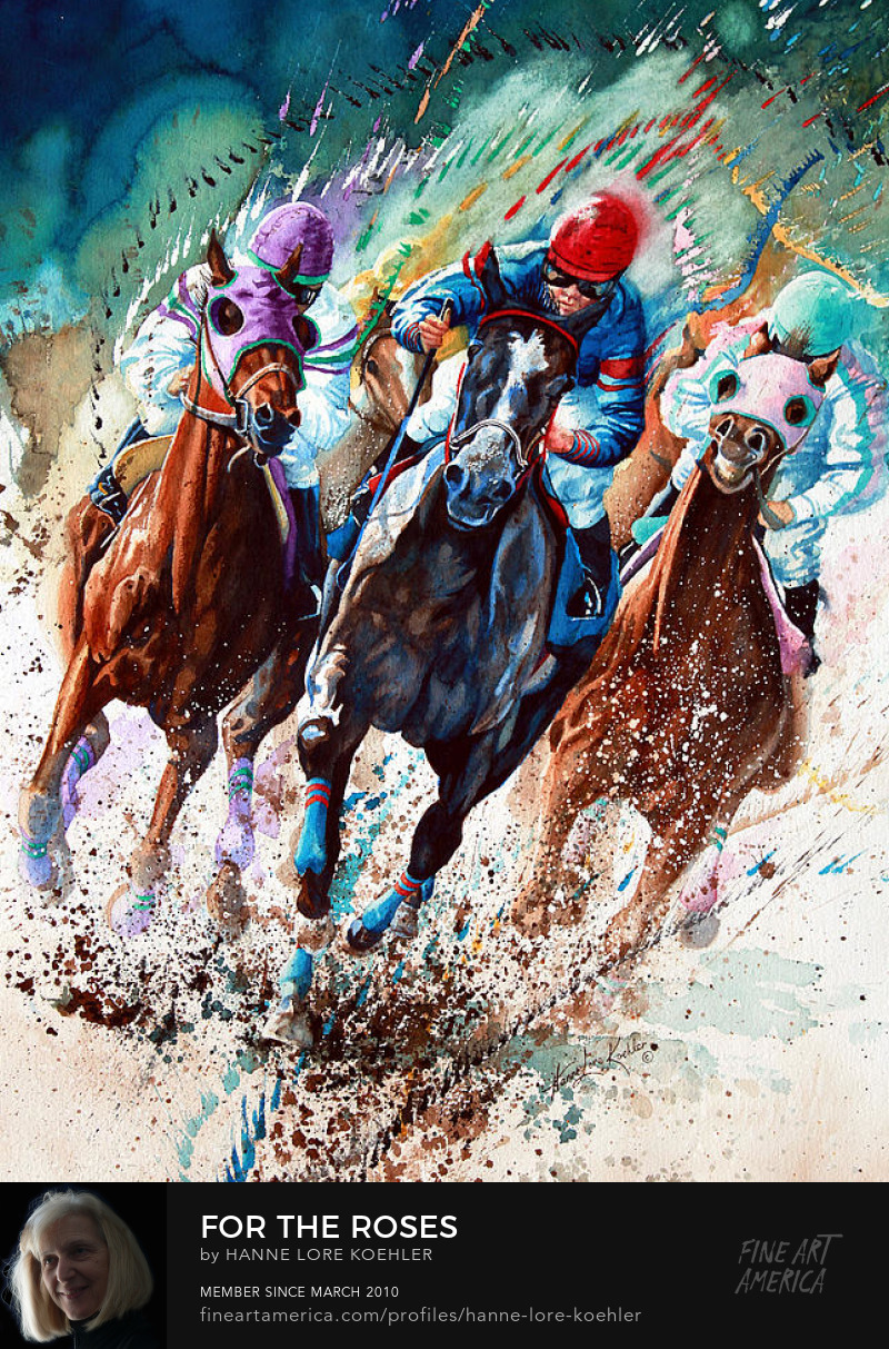 Horse Racing Painting Art Prints