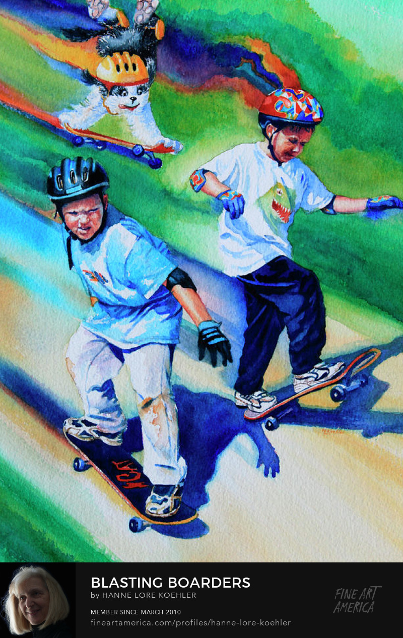 Skateboarding Art Prints