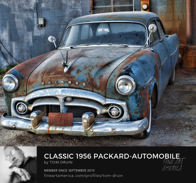 classic 1956 packard automobile by tom druin buy metal prints