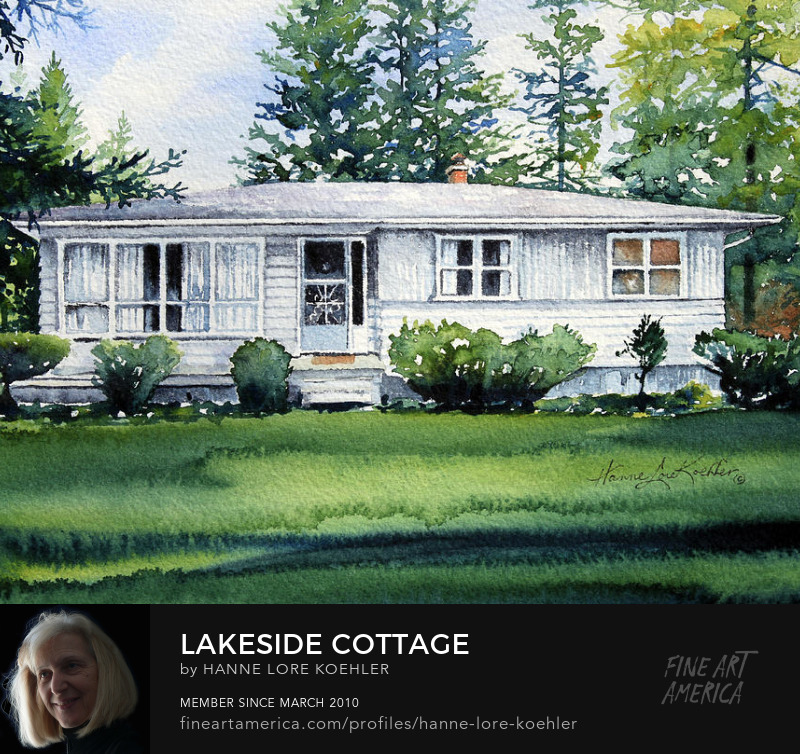 Commission a Lakeside Cottage Portrait