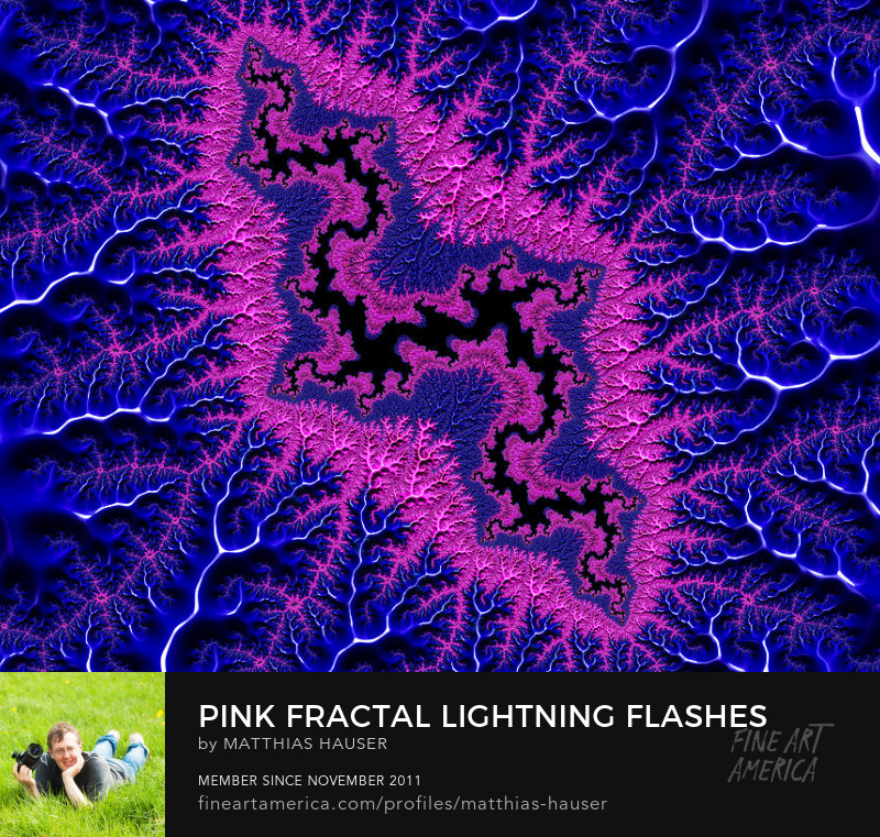 Pink and blue fractal abstract by Matthias Hauser