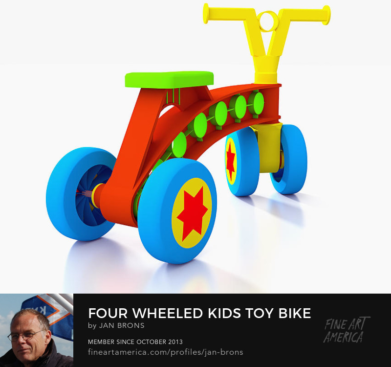 Four wheeled kids toy bike - Photography Prints