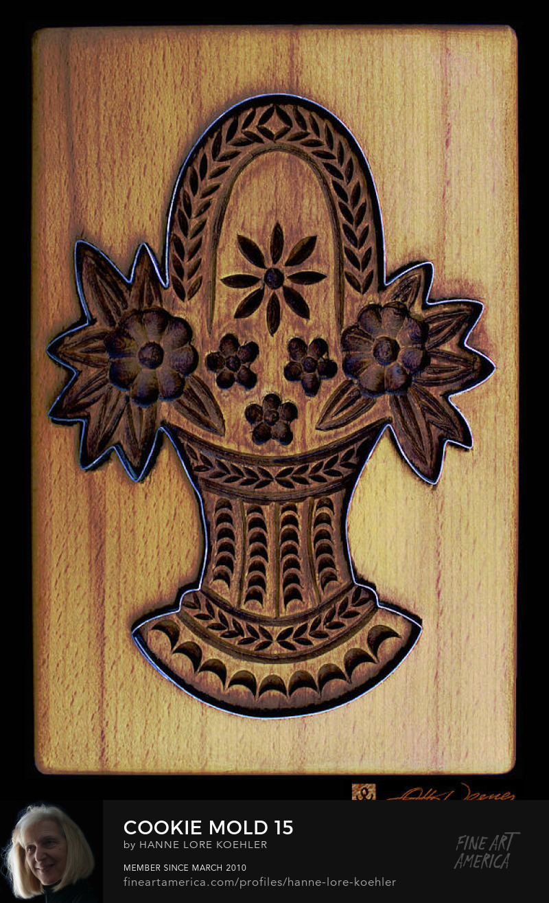 Buy canvas art prints of hand-carved wood baking molds
