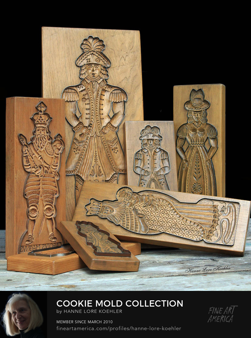 Canvas art prints of carved wood baking molds