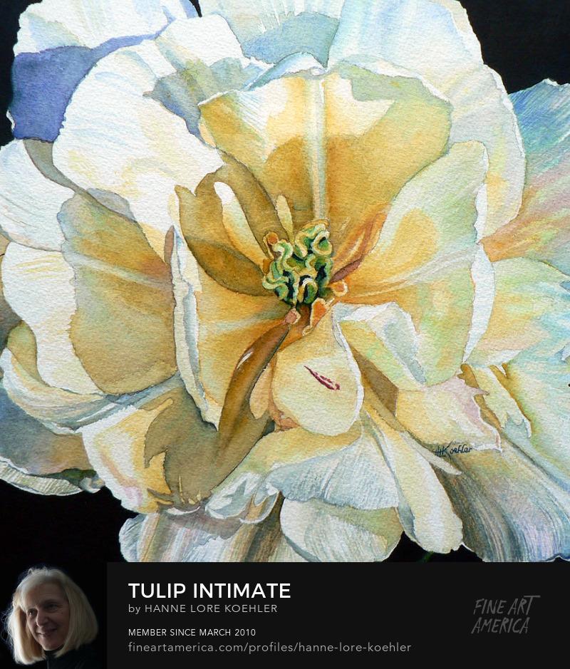 Tulip Painting Art Prints