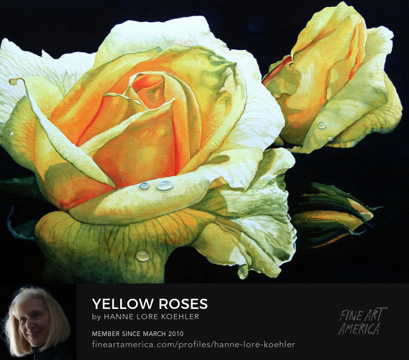 Roses Painting And Art Prints