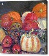 Pumpkins And Pomogranates' Acrylic Print