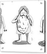 1. Man With Long Beard Holds Razor And Shaving Acrylic Print