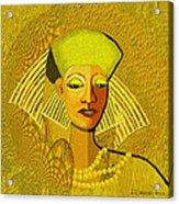 189 Metallic Woman Golden Pearls Acrylic Print
