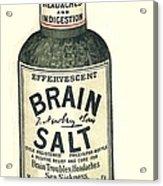 1890s Uk Brain Salt Headaches Humour Acrylic Print