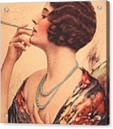 1920s Usa Women Cigarettes Holders Acrylic Print