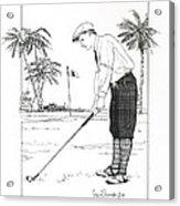 1920's Vintage Golfer Acrylic Print