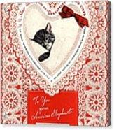1934 1930s Usa Cats Trains Railroads Acrylic Print
