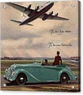 1940s Uk Aviation Hawker Siddeley Cars Acrylic Print