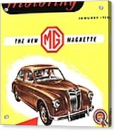 1950s Uk Cars Mg Magnette Covers Acrylic Print