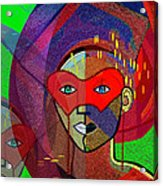 394 - Challenging Woman With Mask Acrylic Print