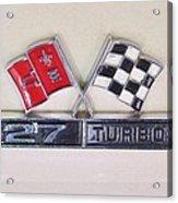 427 Turbo Jet Corvette Emblem Acrylic Print