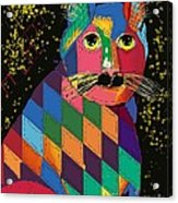 Quilted Cat Acrylic Print