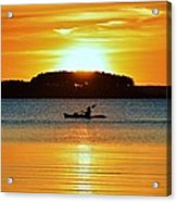 A Reason To Kayak - Summer Sunset Acrylic Print