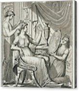 A Roman Lady Has Her Hair Done Acrylic Print