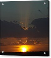 A Sunbeam Sunset Acrylic Print