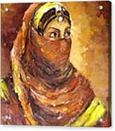 A Woman Acrylic Print by Negoud Dahab