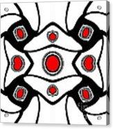 Abstract Geometric Black White Red Art No. 380. Acrylic Print by Drinka Mercep
