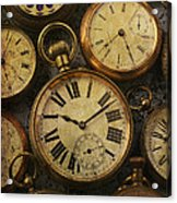 Aged Pocket Watches Acrylic Print
