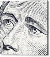 Alexander Hamilton's Ten Dollars Portrait Acrylic Print