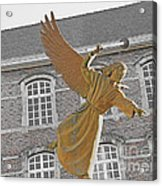 Angel In Gaz Masque Pointing To The Public Acrylic Print