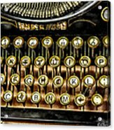 Antique Keyboard Acrylic Print