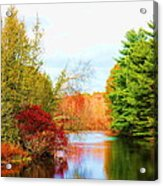 Aspetuck River Easton Ct Acrylic Print