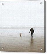 At The Beach On A Foggy Day Acrylic Print