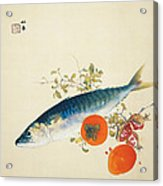 Autumn Fattens Fish And Ripens Wild Fruits Acrylic Print
