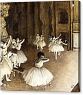 Ballet Rehearsal On Stage Acrylic Print