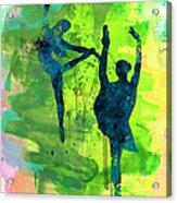Ballet Watercolor 1 Acrylic Print
