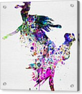 Ballet Watercolor 3 Acrylic Print