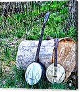 Banjos At The Woodpile Acrylic Print