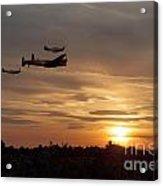 Battle Of Britain Memorial Sunset Acrylic Print