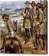 Battle Of Fredericksburg Acrylic Print by American School