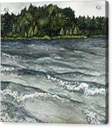 Big Muskallunge Lake  Acrylic Print by Helen Klebesadel