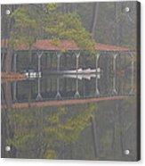 Boat Dock Reflection Acrylic Print