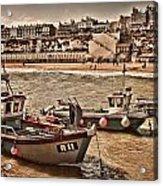 Boats At Broadstairs Acrylic Print