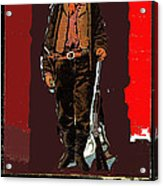 Bogus Drawing Photo Of Billy The Kid Ft. Sumner New Mexico C.1879-2013 Acrylic Print