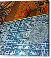 Bottom Of A Foot Of Reclining Buddha In Wat Po In Bangkok-thail Acrylic Print