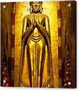 Buddha Inside Ananda Temple - Bagan - Myanmar Acrylic Print