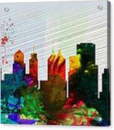 Buffalo City Skyline Acrylic Print