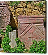 Byzantine Cross In Myra-turkey Acrylic Print