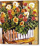 Chair Of Flowers Acrylic Print